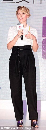 Look smart in Scarlett's 3.1 Phillip Lim trousers. Click 'Visit' to buy now. #DailyMail