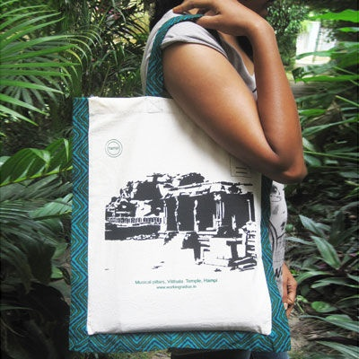 Block printed, place collection, tote bags! pretty exclusive!