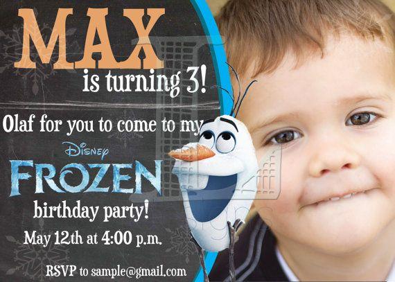 Frozen Olaf Birthday Invite