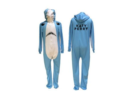 "The Katy Perry ""Left Shark Belovesie,"" available exclusively on the pop princess' merchandise site, is an all-over print hoodie jumpsuit inspired by the Internet-breaking backup dancer from Perry's performance. It's already available to pre-order for a cool $130."