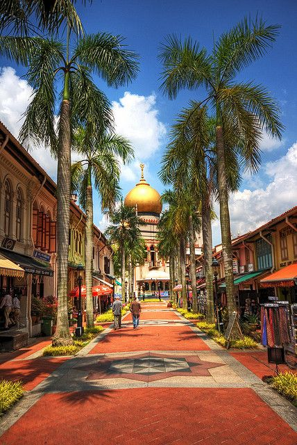 Cycle around town and take a pit stop at one of the many cafe's nearby. You can visit Sultan Mosque, Singapore at specific hours.
