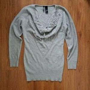 I just added this to my closet on Poshmark: Bisou Bisou long gray cowl neck sweater. Price: $25 Size: S