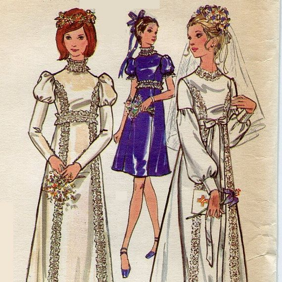 Vintage Wedding Dresses Under 1000: 1000+ Images About 1970s Wedding Dress Patterns On