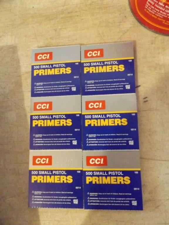 CCI 500 SMALL PISTOL PRIMERS | VANDERHEIDEN ONLINE ESTATE