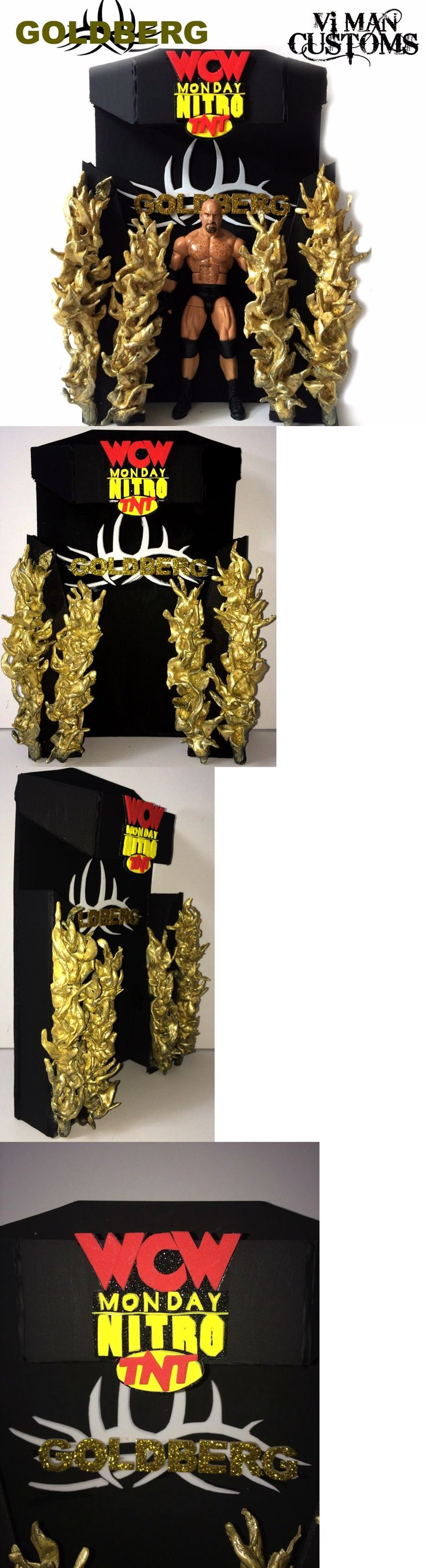 Sports 754: Wwe Mattel Elite Custom Bill Goldberg Figure And Wcw Nitro Pyro Display Stand -> BUY IT NOW ONLY: $110 on eBay!