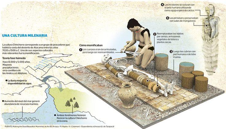 Cultura Chinchorro es el nombre dado a un grupo de pescadores que habitaron la costa del desierto de Atacama entre el 7020 y el 1500 a. C., desde Ilo (Perú) por el norte hasta Antofagasta (Chile) por el sur, y que establecieron su núcleo en la actual ciudad de Arica y en el valle de Camarones.  Este grupo destaca entre otros cazadores recolectores tempranos por sus excepcionales ritos funerarios, siendo los primeros a nivel mundial en momificar artificialmente a sus muertos.