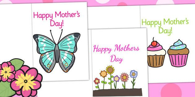 Mother's Day Card Templates - twinkl