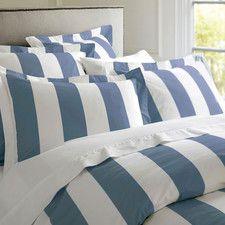 Oxford Stripe Quilt Cover Cobalt Blue