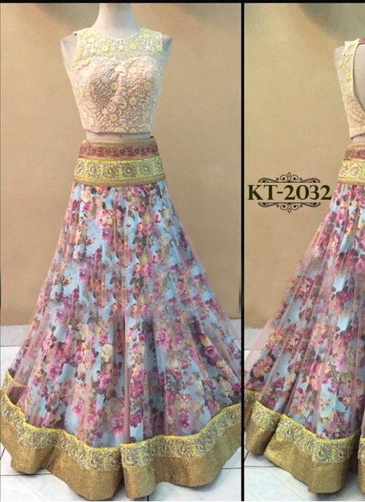 New Peach Mono Net Designer Lehenga Choli @Rs.1599 #Fancy #Designer #Gorgeous…