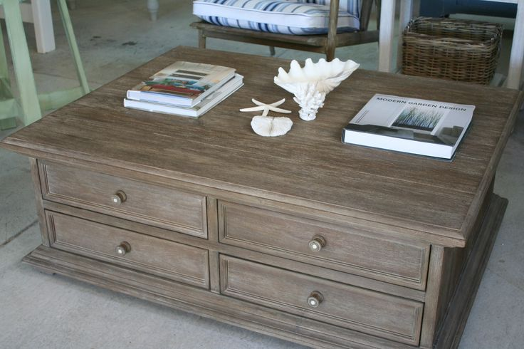 rustic grey coffee table 3