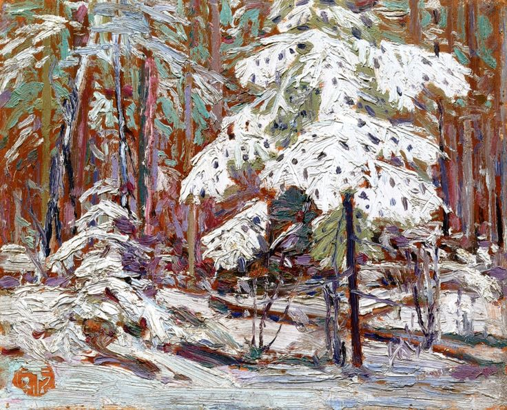 The Athenaeum - Snow in the Woods (Tom Thomson - )