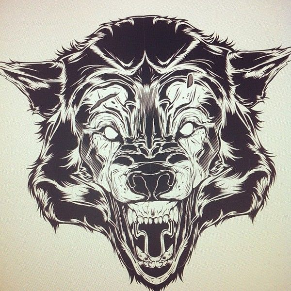 Wolf Time-Lapse (Vector) by Joshua M. Smith, via Behance