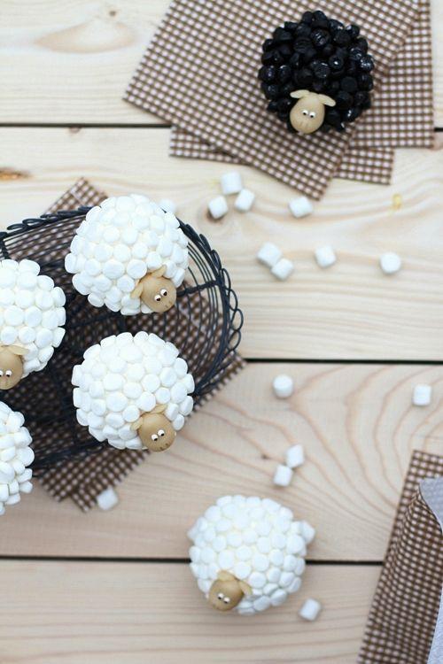 Cupcakes Ovelhas de Marshmallow