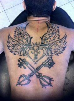 Kingdom Hearts tattoo ~ sick