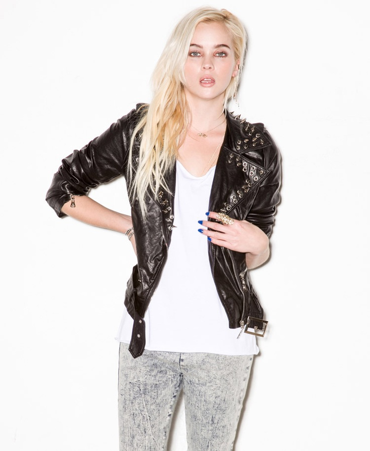Forever 21 Spike Faux Leather Moto Jacket.... Love It! #SPCCardValentine