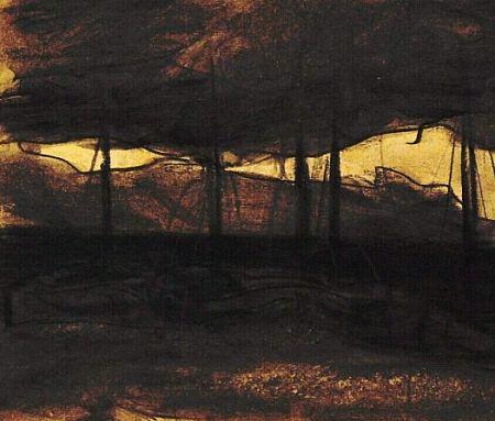 Jan Toorop (1858-1828) - Schepen bij Avond, 1887