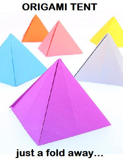 origami tents origami fun pinterest tent and origami