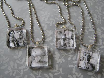 DIY  {photo pendants}