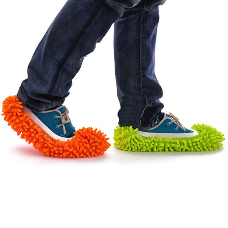 1 Unidades de Microfibra Chenilla Fregona de Limpieza De Suelos Perezoso Fuzzy Herramientas De Pisos Zapatos Zapatillas de Casa de Baño Limpiador de Cocina