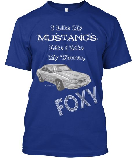 Ford Mustang Racing Stripe Design Blue Men S Size Tee: The O'jays, Shirts And Fans