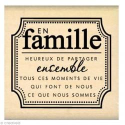 Tampon Divers - En Famille - 50 x 50 mm