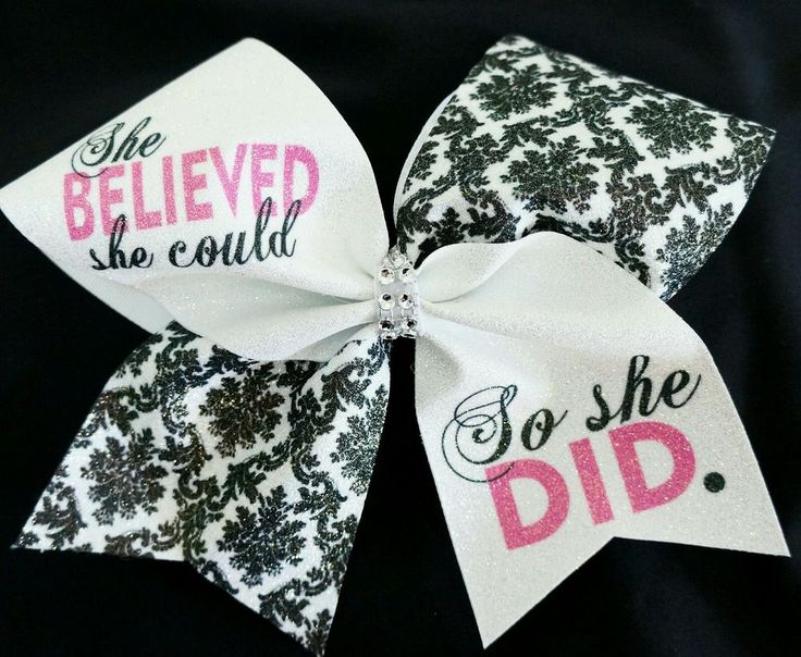 Cheer Bow She Believed She Could So She Did Cheerbowfactory Bows   eBay
