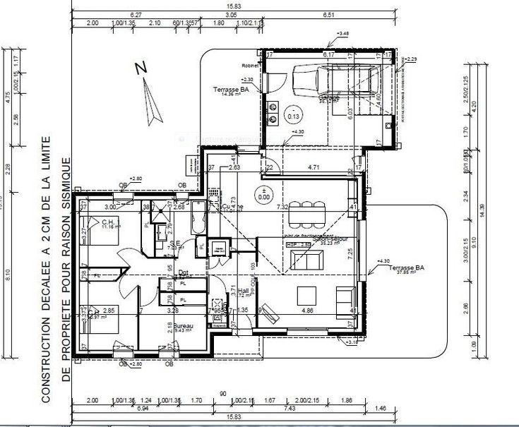 53 best PLANS images on Pinterest Future house, Floor plans and - plan maison 170 m2 plain pied