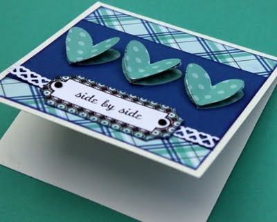 3 dementional hearts  #Hearts #3d-card #card-making #valentine