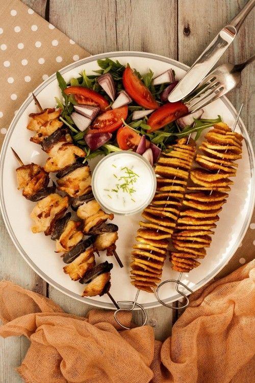 Csirkesaslik burgonyaspirállal recept