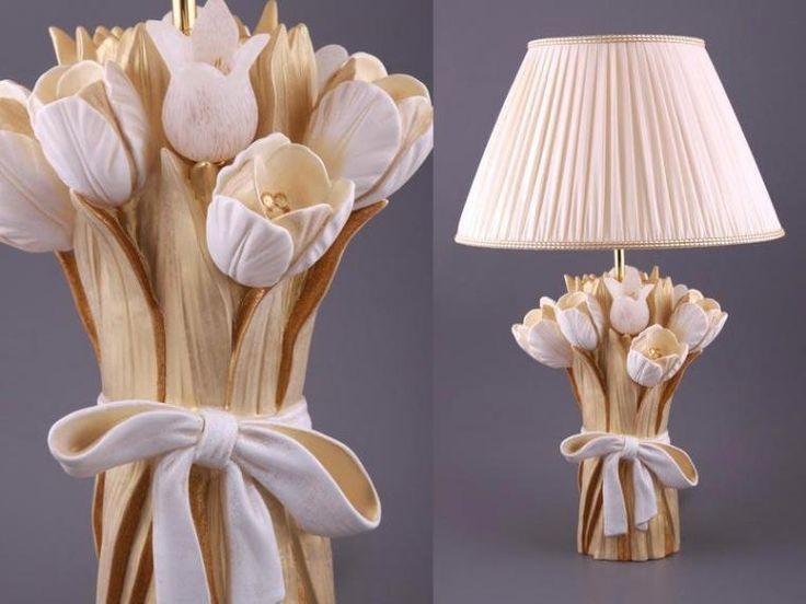 Цветы в интерьере. Часть первая: декор абажура - Ярмарка Мастеров - ручная работа, handmade