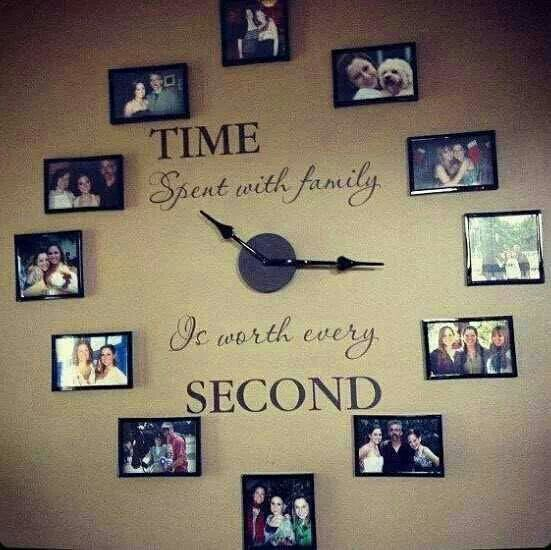 Family Clock - for the Dining Room!  <3