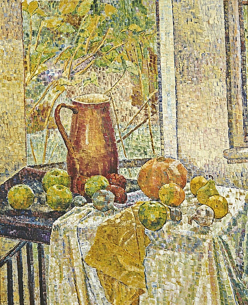 Grace Cossington Smith - Jug with Fruit in the Window