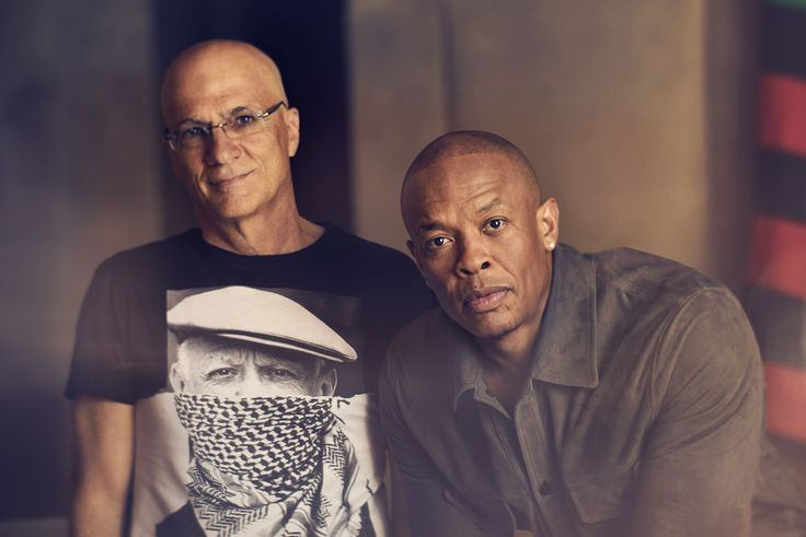 Jimmy Iovine and Dr. Dre photographed by Kurt Iswarienko for Vanity Fair talking about their upcoming HBO documentary The Defiant Ones.  Set design by Maxim Jezek and styling by Lauren Knudsen