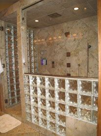 7 Tips For Building A Step Down Glass Block Shower Wall To Work With A  Bench Seat Or Tub Deck