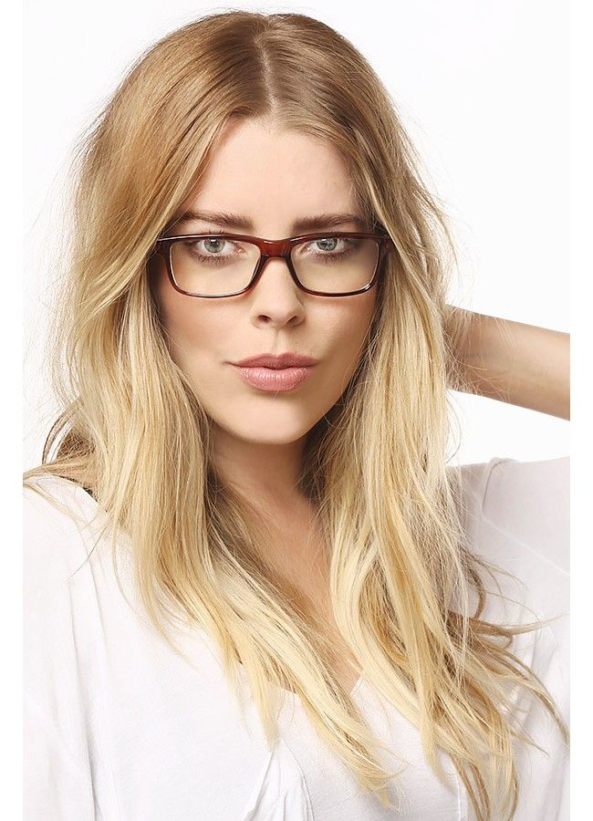 Lenox Hill Squared Skinny Clear Glasses - Black - 2391-2