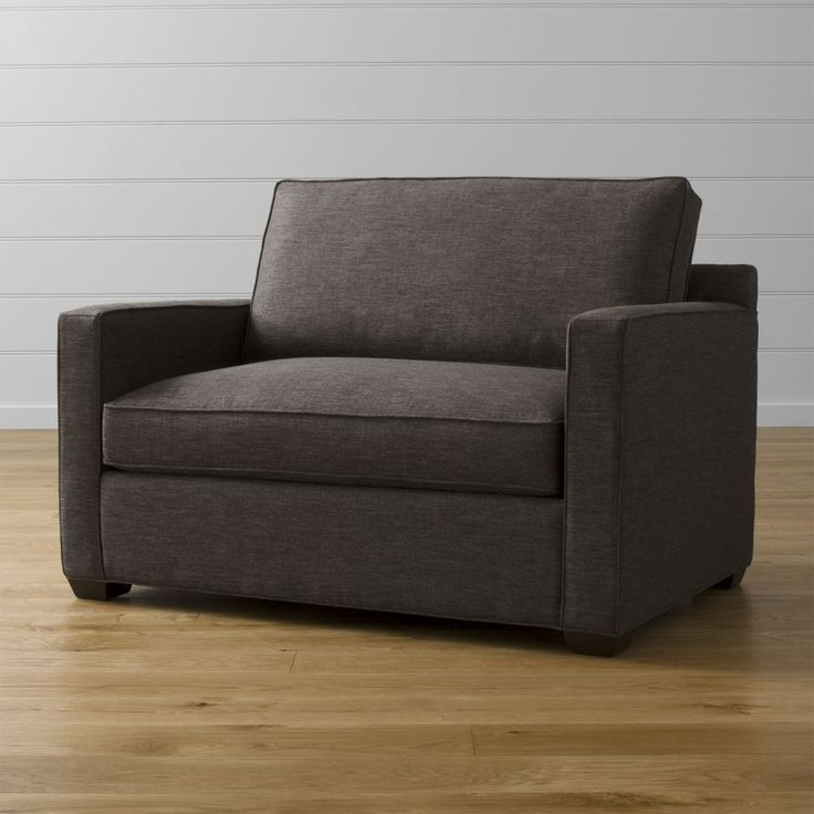 Davis chair and a half crate and barrel twin sleeper