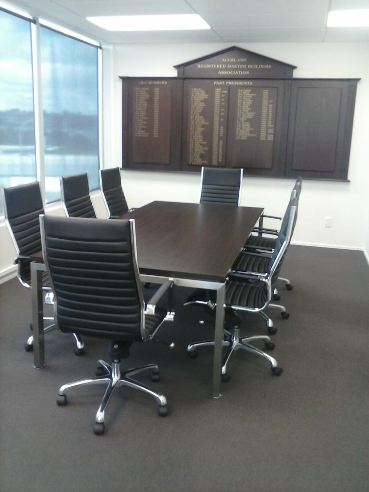 Meeting table & chairs for Auckland Registered Master Builders, thanks Mandy!