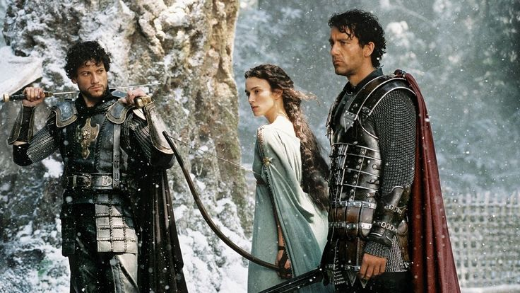Ioan Gruffudd, Keira Knightley and Clive Owen in King Arthur, 2004