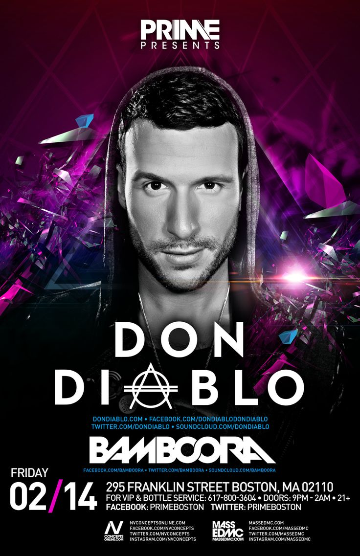 Don Diablo at PRIME, Boston, MA this weekend, Friday, Feb 14th! #DonDiablo #PRIME #Boston http://www.upstateproductions.org/#!events/cm2v