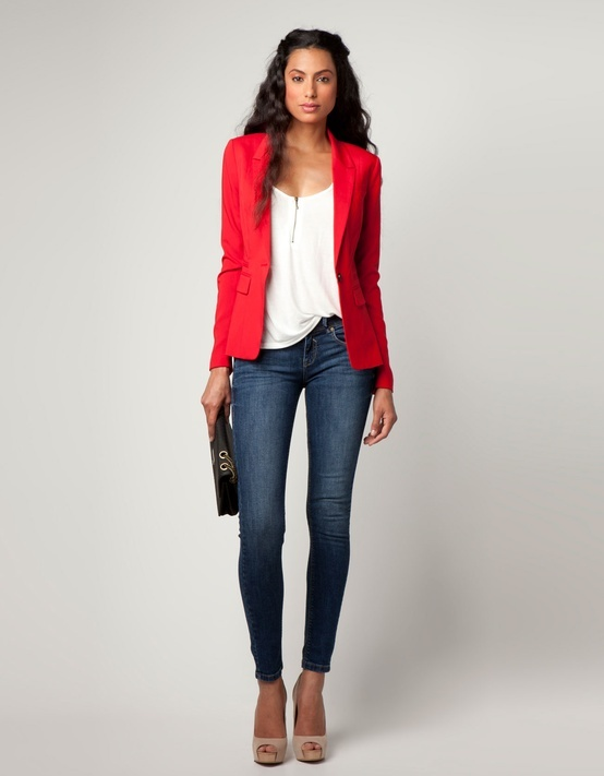 Red blazer #casualfriday #office