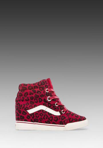 Vans Sk8-Hi Wedge Sneaker in Red