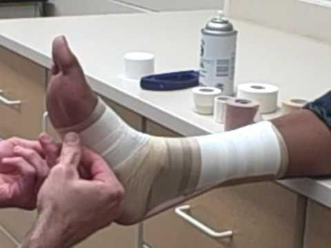 PCHS Sports Medicine Achilles Tendon Tape Job