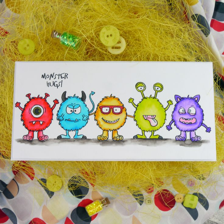 Card created using For the Love of Stamps by Hunkydory Crafts Misfit Monsters Stamp Set