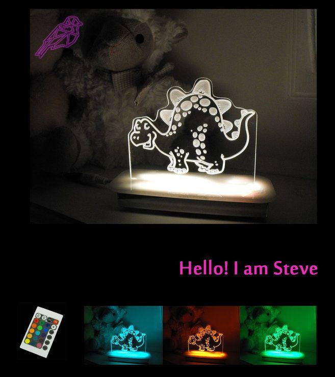 Steve the Dinosaur Night Light by Illuminate Creations #lamp #kidsdeco #nightlight