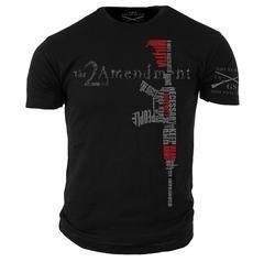 2nd Amendment T-Shirt- Grunt Style Military Men's Black Tee Shirt