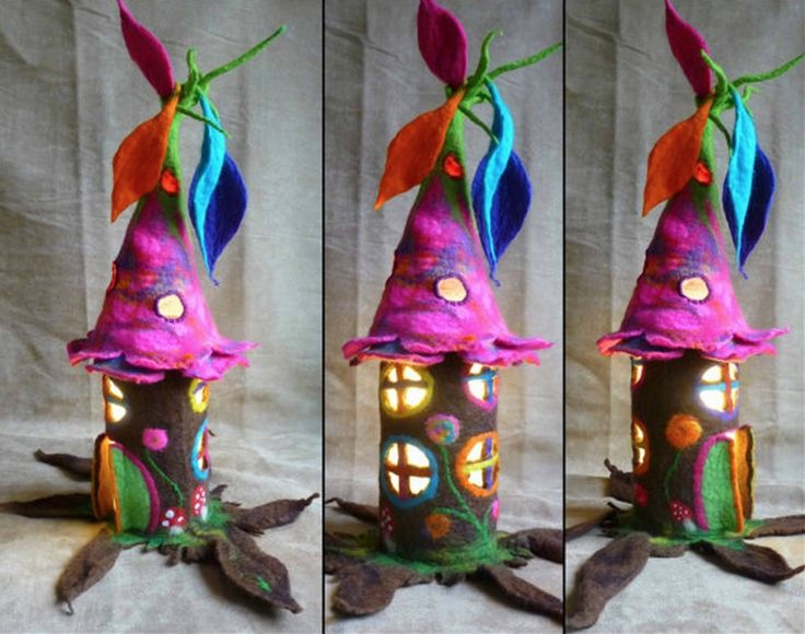 The little ones will love helping make these Toilet Paper Roll Fairy Houses.  Don't miss the Milk Jug Fairy Houses too!