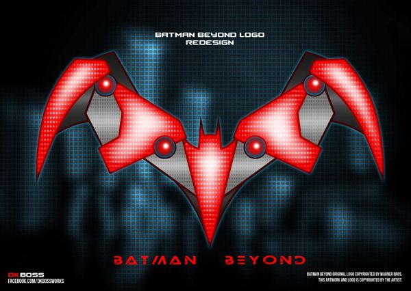#BatmanBeyond new logo #batman #dc #comics #logo #mechanical #tech #redesign #dkboss7