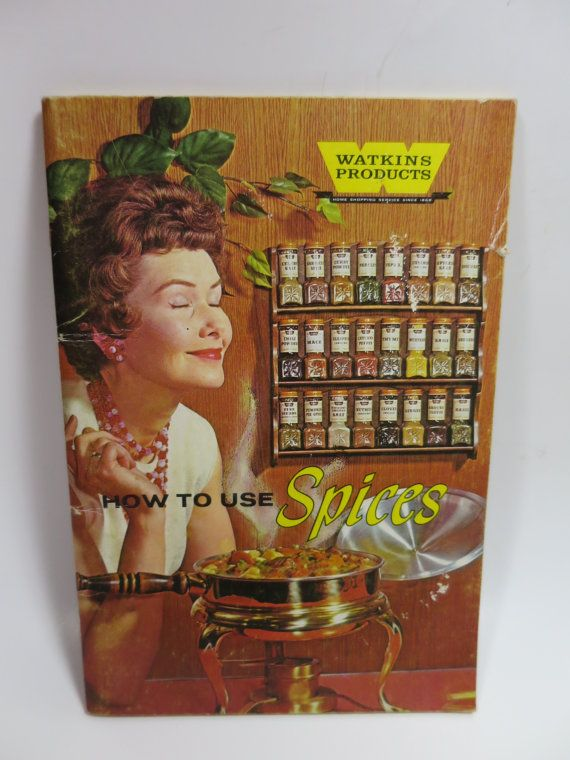 Watkins Spice CookBook 1958 How to Use Spices by BonniesVintageAttic #midcentury #cookbook