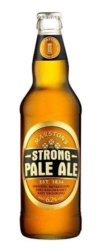 Cerveja Marston's Strong Pale Ale, estilo Extra Special Bitter/English Pale Ale, produzida por Marston's Beer Company, Inglaterra. 6.2% ABV de álcool.