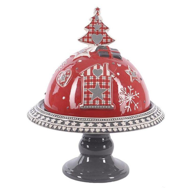 Ceramic Christmas Plate With Cover - Porcelain - Ceramic - Christmas - SEASONAL
